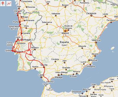 Portogallo Spagna Cartina.Taccuino Di Viaggio Diari Di Viaggio